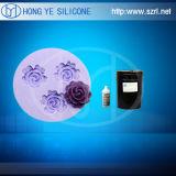 비누를 위한 형을 만들기를 위한 다채로운 액체 실리콘