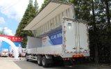 Carro pesado de Isuzu 6X4 con la carrocería del viento de Hydarulic
