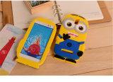 3D 만화 모형 실리콘 물자 비열한 저 노란 앞잡이 덮개 J5 전성기를 위한 귀여운 전화 상자