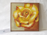 Cor de ouro Rose Pattern Home Decorative Canvas Hanging Painting
