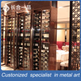 304#Stainlessクーラーが付いている鋼鉄ローズの金のワインのキャビネットの両開きドア