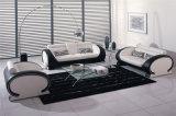 Sofà di cuoio di stile 1+2+3 moderni di Purplar per il salone, bianco (HC6024)