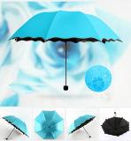 سحريّة [وتر مرك] طباعة زهرة حافّة بنت قبلة شكل يطوي مظلة