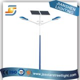 Lámpara de calle al aire libre solar del brazo doble LED