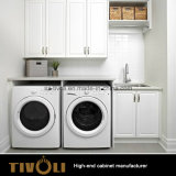 明白で白いラッカーPUの絵画食器棚および台所家具(AP143)