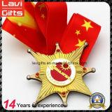 Modificado para requisitos particulares del oro corrientes del deporte de medalla con la cinta