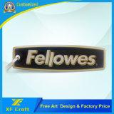 Ambos de epoxy modificados para requisitos particulares impresión de la cara cualquie anillo dominante del metal de la insignia con el precio bajo (XF-KC18)