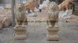 Pietra animale del giardino di arte del giardino del granito grande per la statua/sculture della scultura della statua del leone