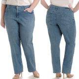 Soem-Dame-grosse Größen-Jeans-Faltenbildung-reizvolle Jeans für Frauen