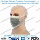 Respiratore chirurgico a gettare della maschera di protezione Pfe99 del Nonwoven 4ply per medico/ospedale Qk-FM003