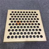 Painéis de revestimento de alumínio com perfuração redonda dos furos para o uso do revestimento da parede