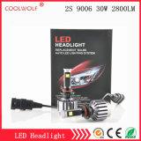 경쟁가격을%s 가진 공장 직매 2s 9006 30W 2800lm LED 차 LED 헤드라이트 전구 Headlamp