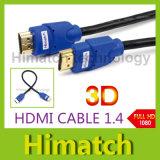 Affichage à cristaux liquides TVHD de HDMI Cable 1ft Version 1.4 Gold Digital Audio/Video Cable 1080P 3D