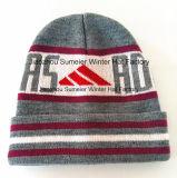 Tampão bordado chapéu feito malha bordado morno do Beanie do sustento de 100%