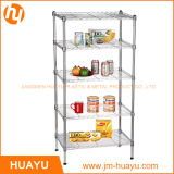 5 file Commercial Chrome Metal Shelf Wire Shelving Rack Wire Stand (800lbs resistenti)