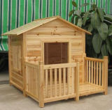 Grande casa de cão ao ar livre de madeira nova do animal de estimação