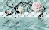 Het waterdichte Olieverfschilderij van de Decoratie van de Bloem Kleurrijke