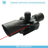 Mini 2.5-10X40 Tactical Compact Rifle Scope com visão laser vermelha