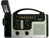 Непредвиденный солнечное радиоий погоды динамомашины Am/FM/Noaa ручки для вращения, электрофонарь, читая