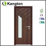 Porte en verre de PVC d'intérieur (porte de PVC)