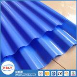 Painel ondulado do policarbonato da proteção UV material desobstruída do telhado de Buiding