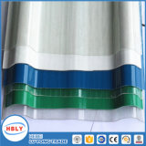 Painel ondulado do policarbonato da proteção UV material do telhado de Buiding