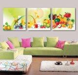 La toile de décoration de maison de peinture de fruit de peinture à l'huile d'art de mur de 3 panneaux estampe des illustrations pour la salle de séjour Mc-254