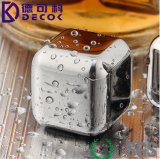 Whisky Chilling Rocks Cooler Drink Chiller Stainless Ice Ball Square Acier inoxydable Whisky Stones