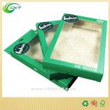 Rectángulo de empaquetado de papel de la tapa de la célula de la caída para los bolsos de la leche de la tuerca con la ventana clara del PVC (CKT-CB-400)