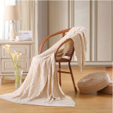 High Quality Fancy - Weave Cotton Knit Blanket (DPFB8016)