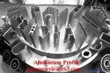 Perfil industrial de aluminio anodizado plata de Matt y protuberancia del aluminio