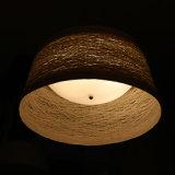 Светильник опалового белого ротанга гостиницы китайского типа круглый привесной