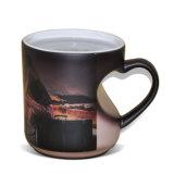 Venta caliente Forma Corazón Mágico prensa del calor del amor taza de cerámica