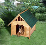 Casa de madeira do quintal ao ar livre para o cão