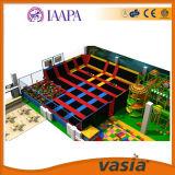 Parque de interior modificado para requisitos particulares sitio grande de interior del trampolín de la base del amortiguador auxiliar de la zona del cielo
