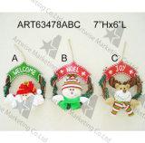 Decoración Wreath-3asst de la Navidad de los alces del muñeco de nieve de Santa