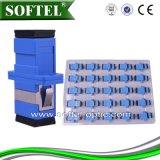 Sc, FC, adattatore ottico della fibra della st