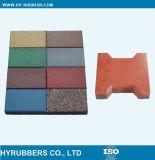 Playgoundまたは庭の床のゴムタイルのためのゴム製床タイル