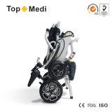 Cadeira de rodas Foldable de pouco peso de alumínio da energia eléctrica de Topmedi