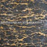 Portoro chinois Marble Tile et Slab (marbre de Black Golden Flower) (JL-2011)