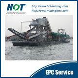 高性能および広く利用された採鉱設備のバケツの鎖鉱山の金の浚渫機