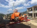 Construção do misturador concreto e da bomba