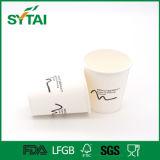 Taza de papel disponible negra sucinta de la buena calidad de la impresión de Flexo de la pared blanca
