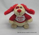 Собака игрушки плюша движения уха Flapping одушевленност Halloween Valentine рождества