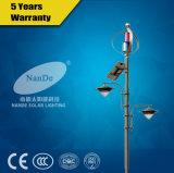 O dobro arma a luz de rua híbrida do vento solar com a turbina de vento 300-400W