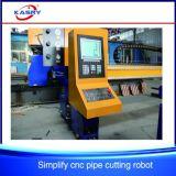 구멍 드릴링 기계를 자르는 철 관 또는 관 CNC 플라스마 /Flame