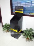 イヤホーンのための1つの大箱が付いている段ボールDumpbinの表示