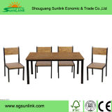 Ensembles de meubles de jardin en bois en teck en acier inoxydable