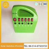Ventilador solar MP3 de la radio del sistema casero de la nueva de la batería 15W9ah función del USB