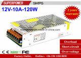 Alimentazione elettrica di commutazione del driver 12V 10A 120W del LED per il video di obbligazione